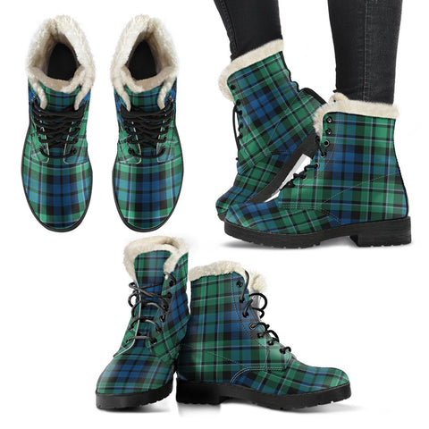 Image of Maccallum Ancient Tartan Faux Fur Leather Boots