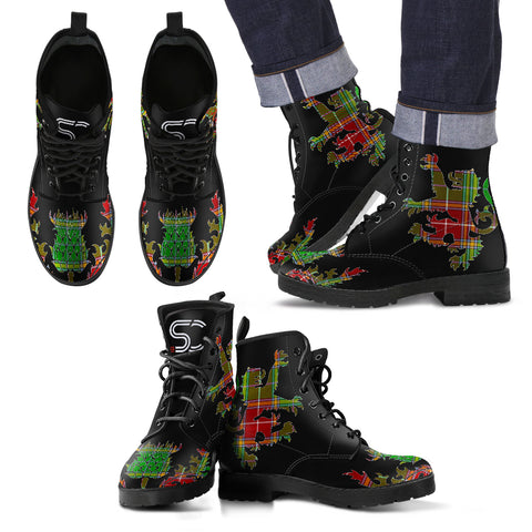 Baxter Modern Tartan Leather Boots Lion And Thistle TH8