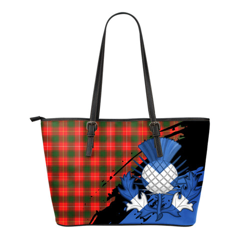 MacPhee Modern  Leather Tote Bag Small | Tartan Bags