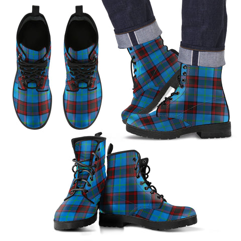 Image of Home Ancient Tartan Leather Boots Footwear Shoes