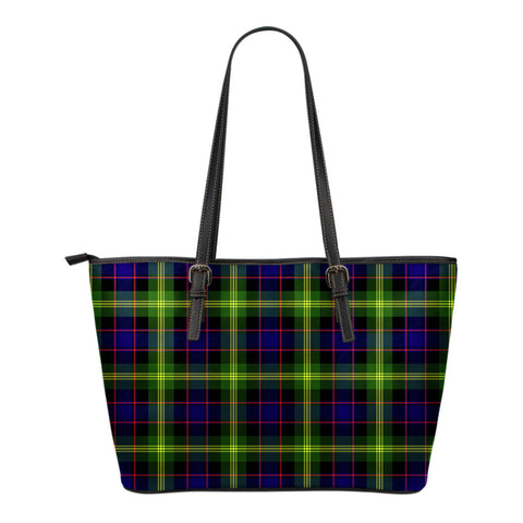 Watson Modern Tartan Leather Tote Bag (Small) | Over 500 Tartans | Special Custom Design