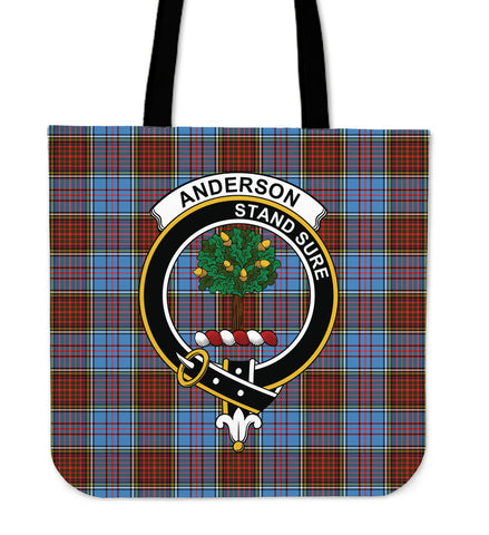 Tartan Tote Bag - Anderson Modern Clan Badge | Special Custom Design