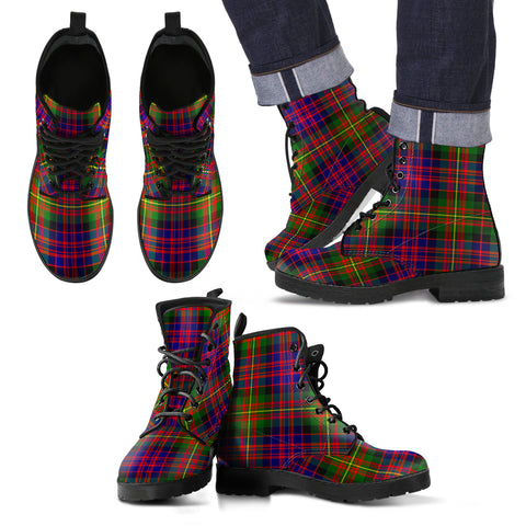 Carnegie Modern  Tartan Leather Boots Footwear Shoes