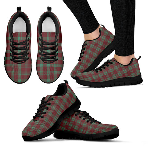 MacGregor Hunting Ancient, Women's Sneakers, Tartan Sneakers, Clan Badge Tartan Sneakers, Shoes, Footwears, Scotland Shoes, Scottish Shoes, Clans Shoes