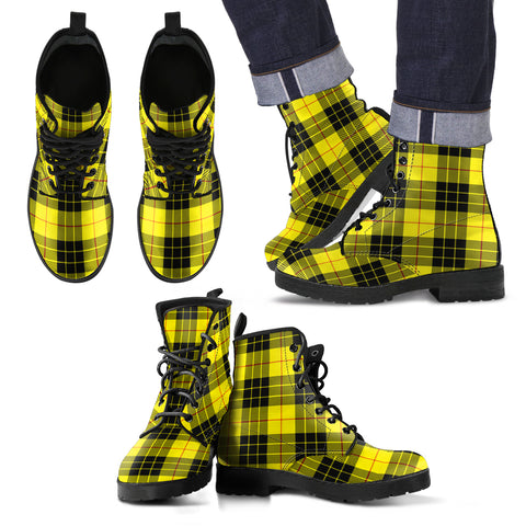 MacLeod of Lewis Modern Tartan Leather Boots Footwear Shoes