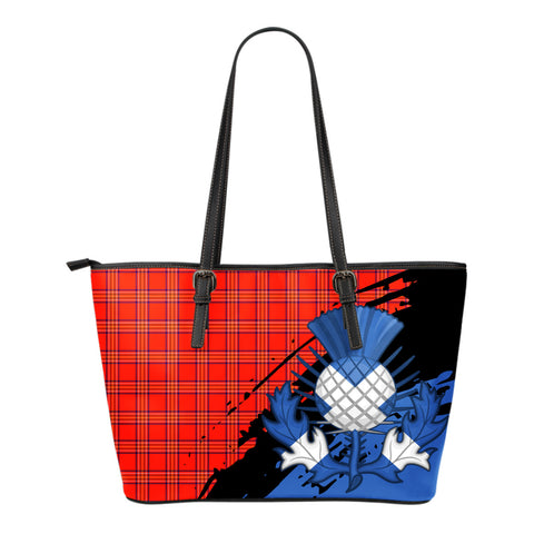 Burnett Modern Leather Tote Bag Small | Tartan Bags