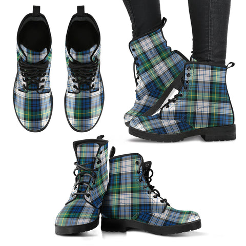 Gordon Dress Ancient Tartan Leather Boots A9