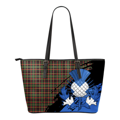 Cumming Hunting Ancient Leather Tote Bag Small | Tartan Bags