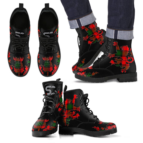 Kerr Modern Tartan Leather Boots Lion And Thistle TH8