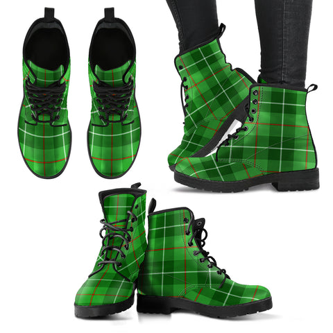 Galloway District Tartan Leather Boots A9