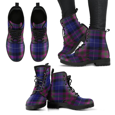 Pride of Scotland Tartan Leather Boots A9