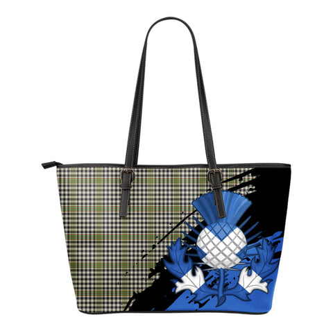 Burns Check Leather Tote Bag Small | Tartan Bags