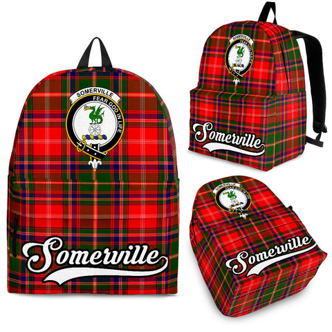 Image of Somerville Tartan Clan Backpack | Scottish Bag | Adults Backpacks & Bags