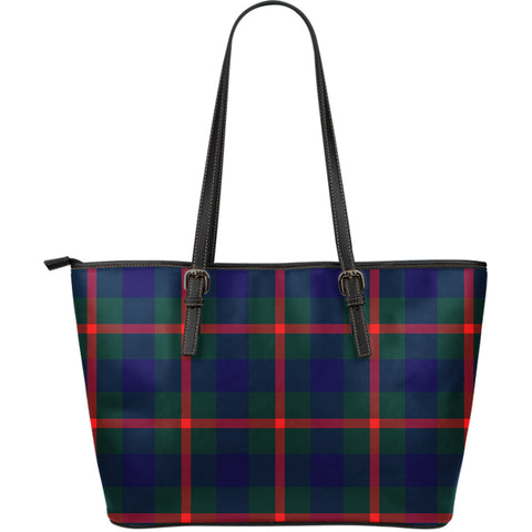 Agnew Modern Tartan Leather Tote Bag (Large) | Over 500 Tartans | Special Custom Design