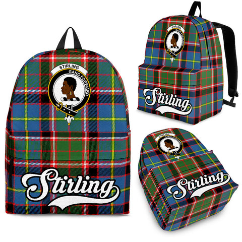 Image of Stirling (of Keir) Tartan Clan Backpack | Scottish Bag | Adults Backpacks & Bags
