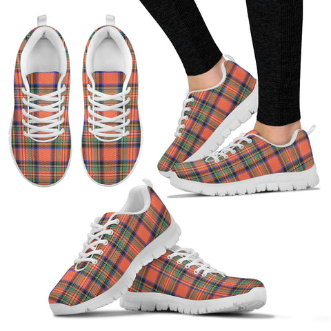 Stewart Royal Ancient, Women's Sneakers, Tartan Sneakers, Clan Badge Tartan Sneakers, Shoes, Footwears, Scotland Shoes, Scottish Shoes, Clans Shoes