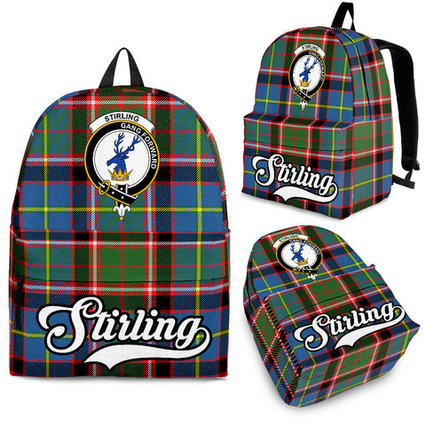 Stirling (of Cadder-Present Chief) Tartan Clan Backpack | Scottish Bag | Adults Backpacks & Bags