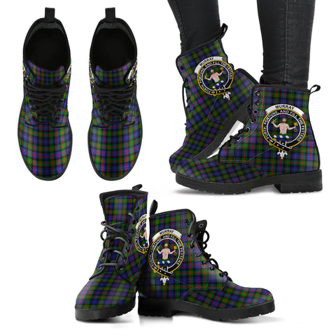 Murray of Atholl Modern Tartan Clan Badge Leather Boots A9