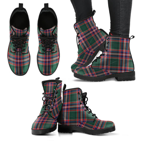 Image of MacFarlane Hunting Modern Tartan Leather Boots A9