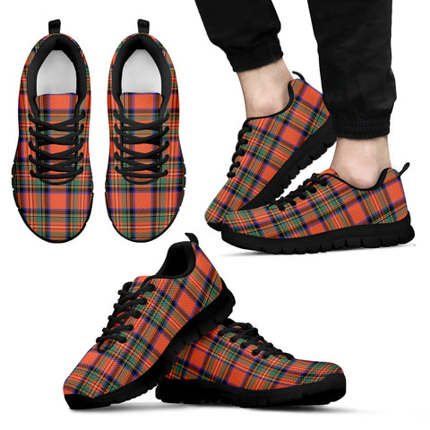 Stewart Royal Ancient, Men's Sneakers, Tartan Sneakers, Clan Badge Tartan Sneakers, Shoes, Footwears, Scotland Shoes, Scottish Shoes, Clans Shoes