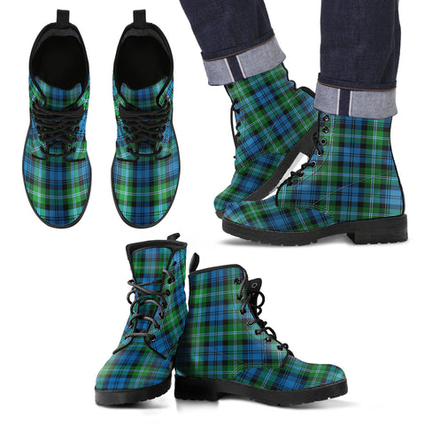 Lyon Clan Tartan Leather Boots Footwear Shoes