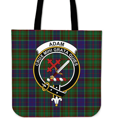 Tartan Tote Bag - Adam Clan Badge | Special Custom Design