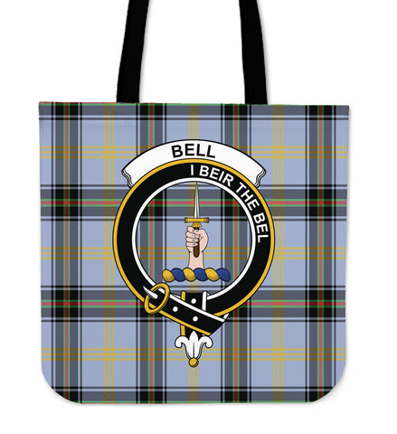 Tartan Tote Bag - Bell Of The Borders Clan Badge | Special Custom Design
