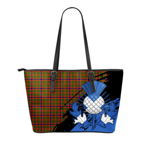 Nithsdale District Leather Tote Bag Small | Tartan Bags