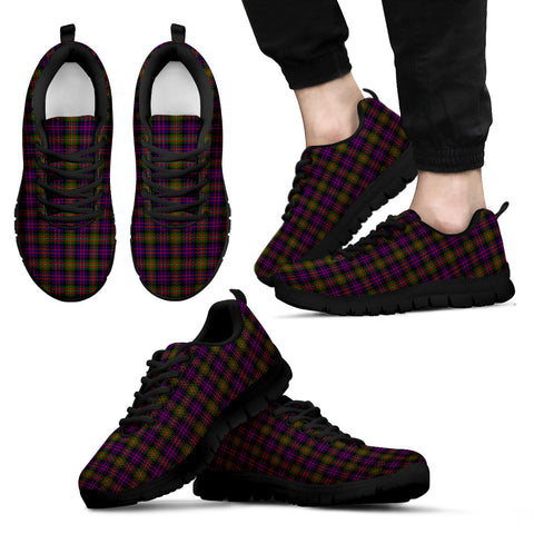 MacDonnell of Glengarry Modern, Men's Sneakers, Tartan Sneakers, Clan Badge Tartan Sneakers, Shoes, Footwears, Scotland Shoes, Scottish Shoes, Clans Shoes