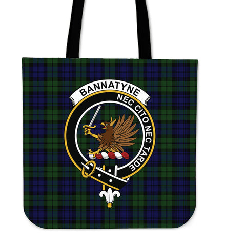 Tartan Tote Bag - Bannatyne Clan Badge | Special Custom Design