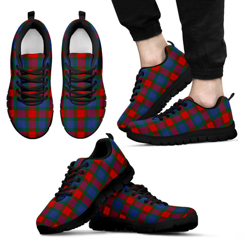 Image of Mar, Men's Sneakers, Tartan Sneakers, Clan Badge Tartan Sneakers, Shoes, Footwears, Scotland Shoes, Scottish Shoes, Clans Shoes