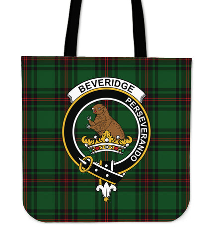 Tartan Tote Bag - Beveridge Clan Badge | Special Custom Design