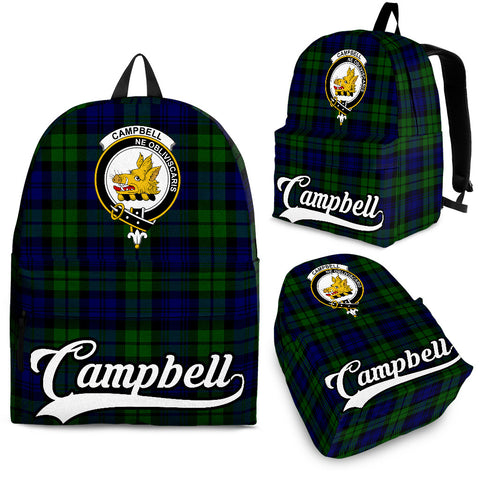 Campbell Tartan Clan Backpack | Scottish Bag | Adults Backpacks & Bags