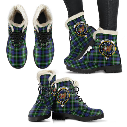 Image of Baillie Modern  Tartan Faux Fur Leather Boots