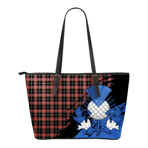 Norwegian Night Leather Tote Bag Small | Tartan Bags