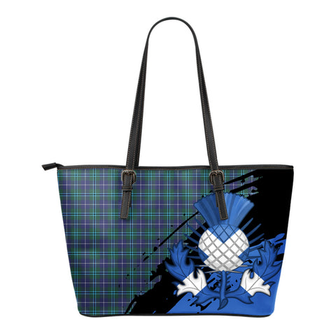 Douglas Modern Leather Tote Bag Small | Tartan Bags