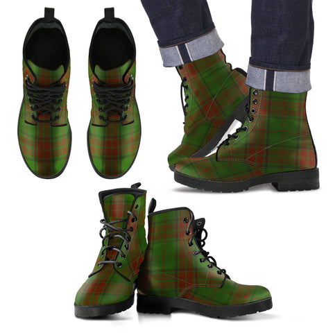 Maxwell Hunting Tartan Leather Boots Footwear Shoes