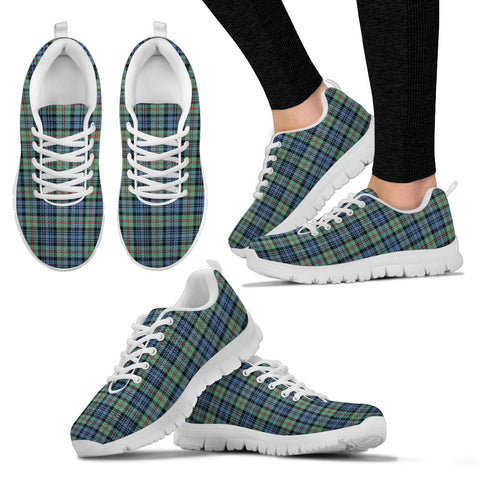 MacKinlay Ancient, Women's Sneakers, Tartan Sneakers, Clan Badge Tartan Sneakers, Shoes, Footwears, Scotland Shoes, Scottish Shoes, Clans Shoes