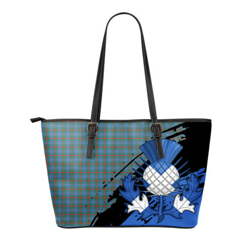 Agnew Ancient Leather Tote Bag Small | Tartan Bags