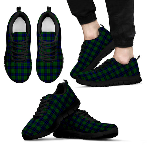 Keith Modern, Men's Sneakers, Tartan Sneakers, Clan Badge Tartan Sneakers, Shoes, Footwears, Scotland Shoes, Scottish Shoes, Clans Shoes