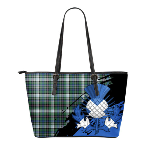 MacKenzie Dress Ancient  Leather Tote Bag Small | Tartan Bags