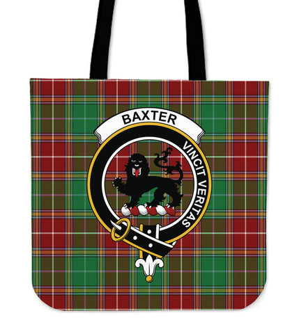 Tartan Tote Bag - Baxter Modern Clan Badge | Special Custom Design