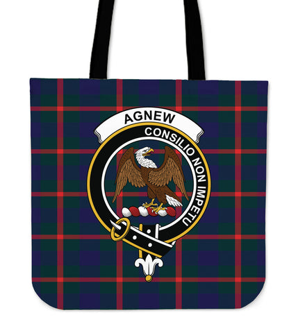 Tartan Tote Bag - Agnew Modern Clan Badge | Special Custom Design