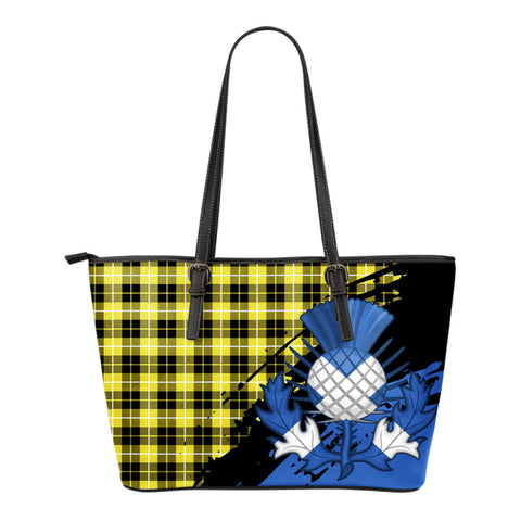 Barclay Dress Modern Leather Tote Bag Small | Tartan Bags