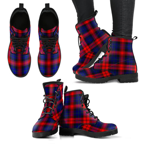 Image of MacLachlan Modern Tartan Leather Boots A9
