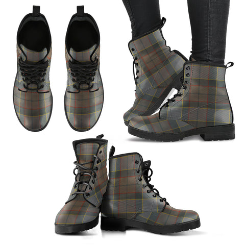 Image of Outlander Fraser Tartan Leather Boots A9