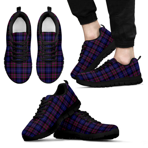Pride of Scotland, Men's Sneakers, Tartan Sneakers, Clan Badge Tartan Sneakers, Shoes, Footwears, Scotland Shoes, Scottish Shoes, Clans Shoes