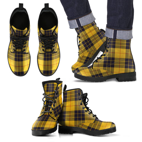 Image of MacLeod of Lewis Ancient Tartan Leather Boots Footwear Shoes