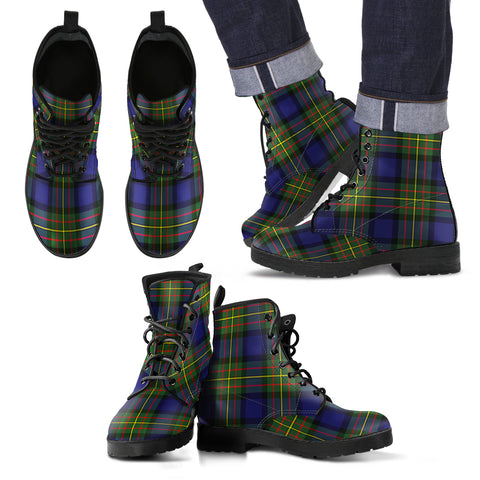 MacLaren Modern Tartan Leather Boots Footwear Shoes