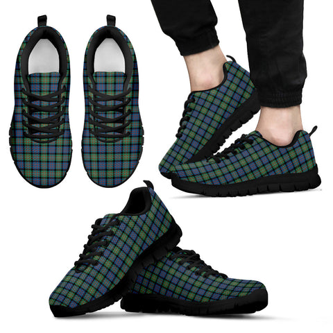 Image of MacDonnell of Glengarry Ancient, Men's Sneakers, Tartan Sneakers, Clan Badge Tartan Sneakers, Shoes, Footwears, Scotland Shoes, Scottish Shoes, Clans Shoes